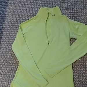 Half-zip long-sleeved top
